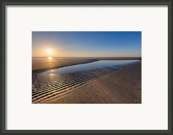 Sunshine On The Beach Framed Print By Debra And Dave Vanderlaan