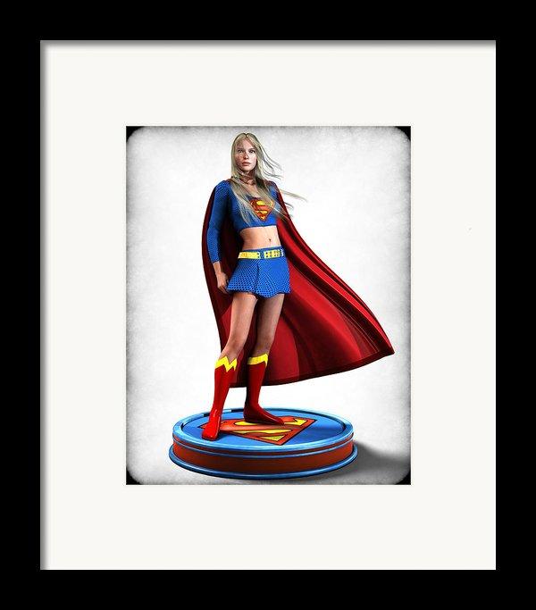 Super Girl V1 Framed Print By Frederico Borges