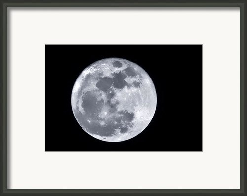Super Moon Over Arizona  Framed Print By Saija  Lehtonen