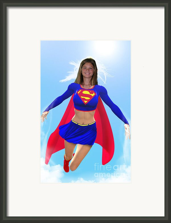 Super Nina Framed Print By Allan  Hughes
