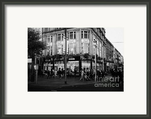 Supermacs Fast Food Restaurant Oconnell Street Dublin Republic Of Ireland Framed Print By Joe Fox