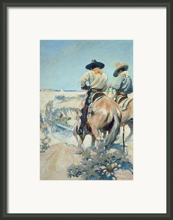 Supply Wagons Framed Print By Newell Convers Wyeth