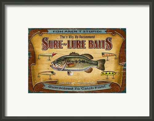 Sure Lure Baits Framed Print By Jq Licensing
