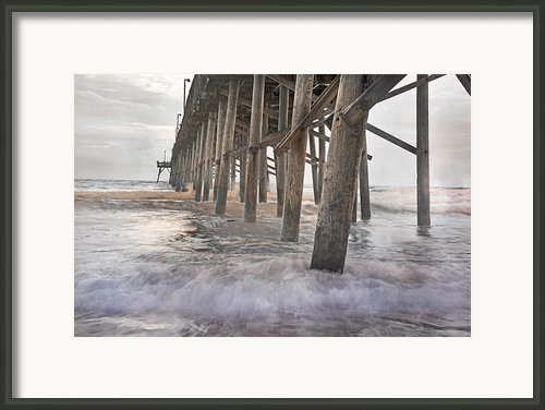 Surf City Ocean Pier Framed Print By East Coast Barrier Islands Betsy A Cutler