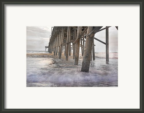 Surf City Ocean Pier Framed Print By Betsy A Cutler Islands And Science