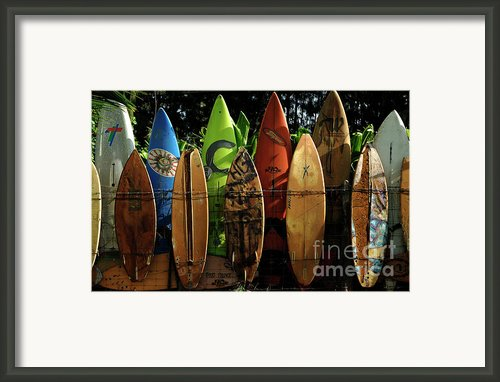 Surfboard Fence 4 Framed Print By Bob Christopher