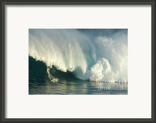 Surfing Jaws 1 Framed Print By Bob Christopher