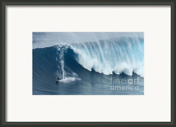 Surfing Jaws 5 Framed Print By Bob Christopher