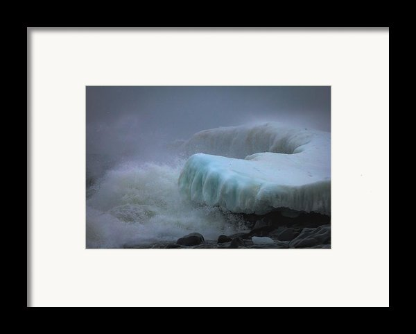 Surging Sea Framed Print By Mary Amerman