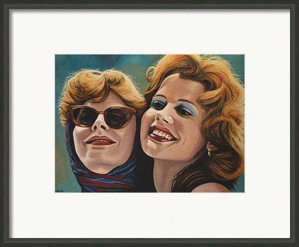 Susan Sarandon And Geena Davies Alias Thelma And Louise Framed Print By Paul  Meijering