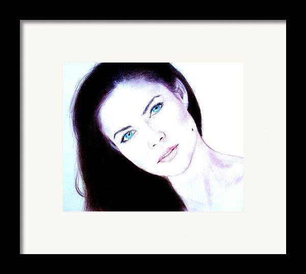 Susan Ward Blue Eyed Beauty With A Mole Ii Framed Print By Jim Fitzpatrick