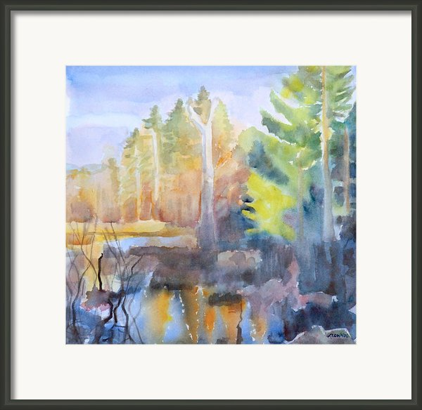 Swamp Color Framed Print By Grace Keown