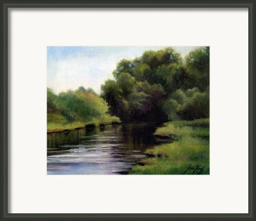 Swan Creek Framed Print By Janet King