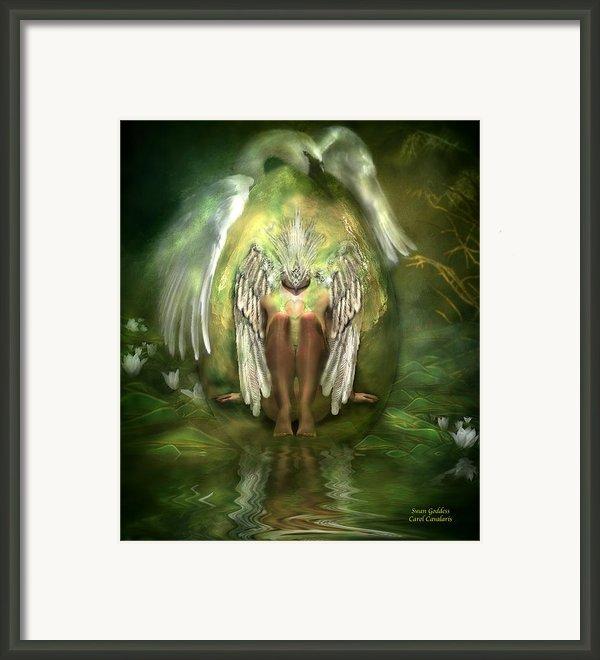 Swan Goddess Framed Print By Carol Cavalaris