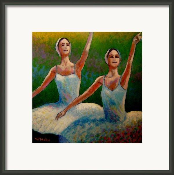 Swan Lake Ii Framed Print By John  Nolan