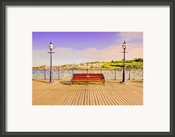 Swanage Pier England - Fine Art Print Framed Print By David Dwight