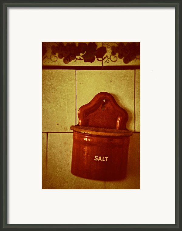 Sweat Tears Or The Sea Framed Print By Odd Jeppesen