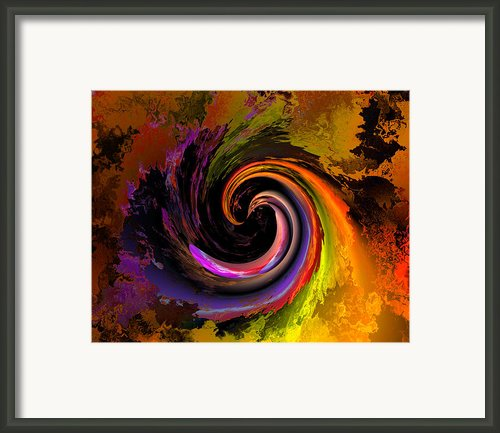 Sweeping Color Framed Print By Claude Mccoy
