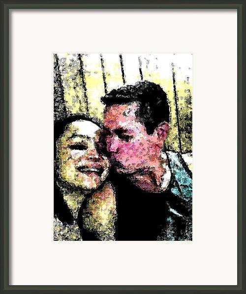Sweet Kiss Framed Print By Michael Alvarez