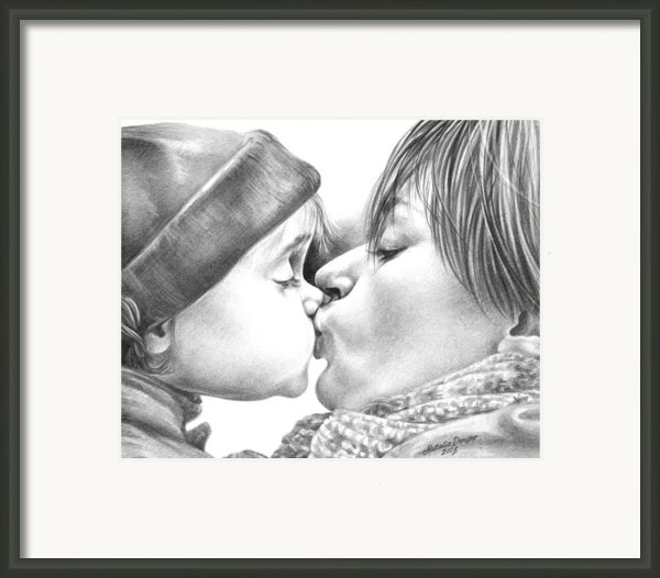 Sweet Kiss Framed Print By Natasha Denger