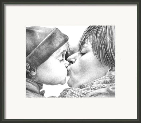 Sweet Kiss Framed Print By Natasha Denger