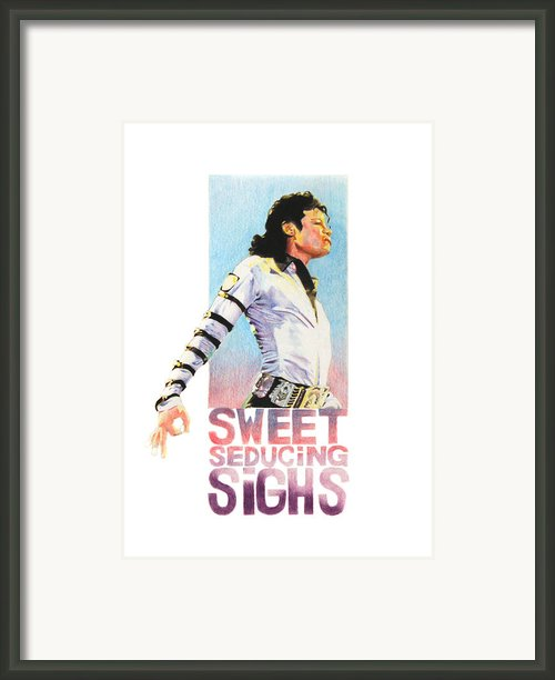 Sweet Seducing Sighs Framed Print By Lillian Melker