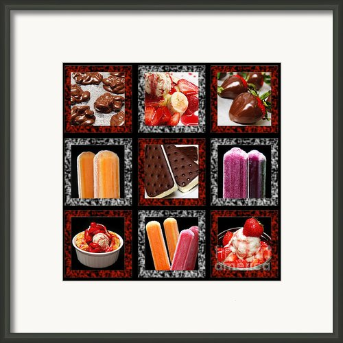 Sweets For The Sweet Tic Tac Toe Framed Print By Andee Photography