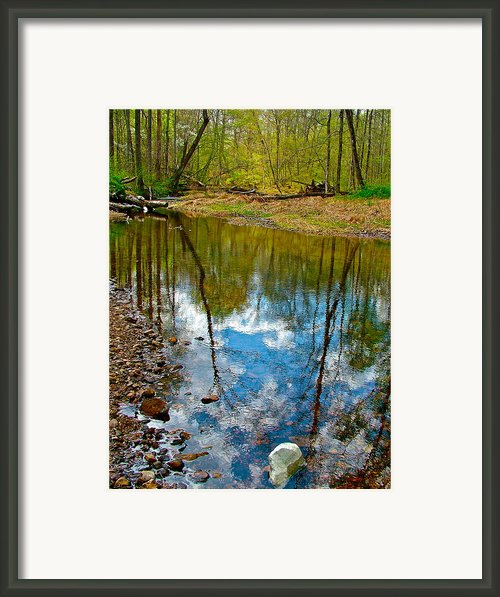 Sweetwater Branch At Mile 363 Of Natchez Trace Parkway-tn Framed Print By Ruth Hager