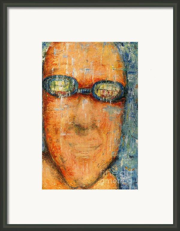 Swimmer - 2012 Framed Print By Nalidsa Sukprasert