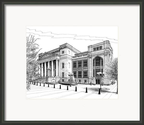 Symphony Center In Nashville Tennessee Framed Print By Janet King