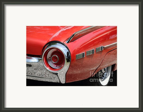 T-bird Tail Framed Print By Dennis Hedberg