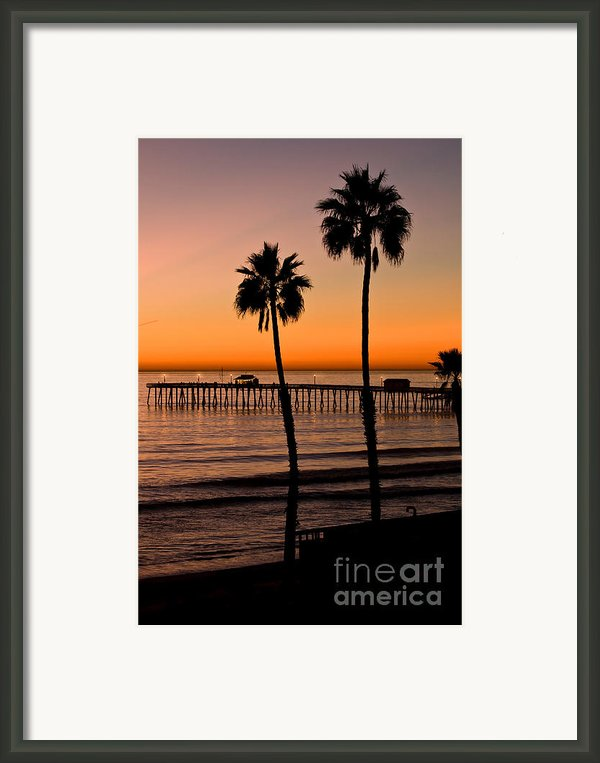 T Street Pier San Clemente California From The Book My Ocean Framed Print By Author And Photographer Laura Wrede