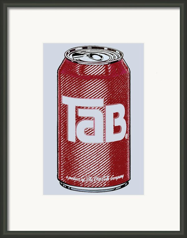 Tab Ode To Andy Warhol Framed Print By Tony Rubino