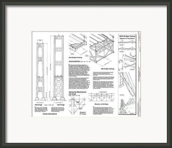 Tacoma Narrows Bridge Habs P2 Framed Print By Photo Researchers