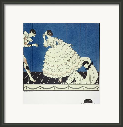 Tamara Karsavinaas Columbine Framed Print By Georges Barbier