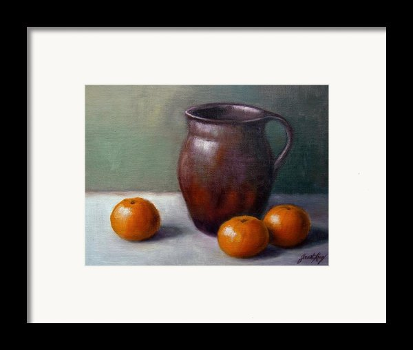Tangerines Framed Print By Janet King