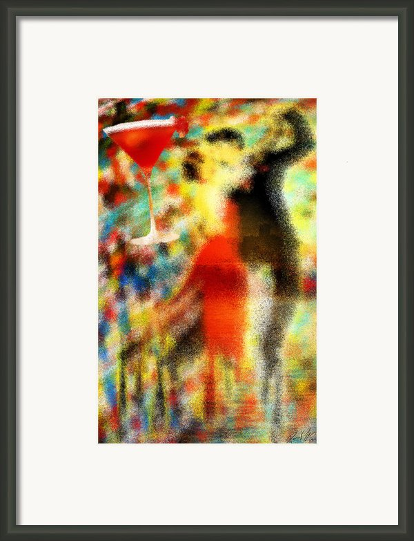 Tango As The Sunset Framed Print By Kenal Louis