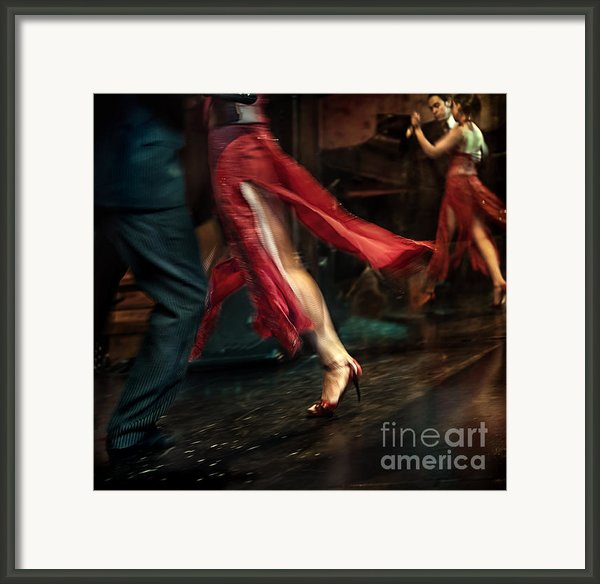 Tango Reflection Framed Print By Michel Verhoef