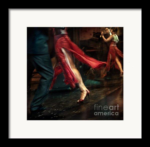 Tango Reflection Framed Print By Michel Verhoef