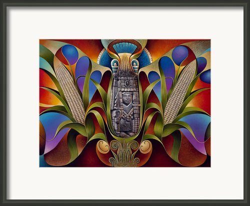 Tapestry Of Gods-chicomecoatl Framed Print By Ricardo Chavez-mendez