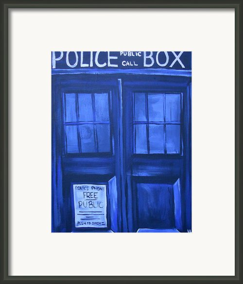 Tardis Framed Print By Lisa Leeman