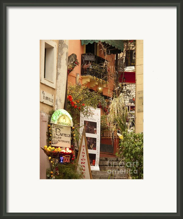 Taromina Steps Framed Print By David Smith