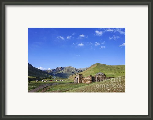 Tash Rabat Caravanserai In The Tash Rabat Valley Of Kyrgyzstan  Framed Print By Robert Preston