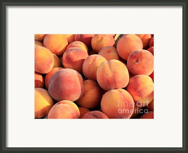 Tasty Peaches Framed Print By Carol Groenen