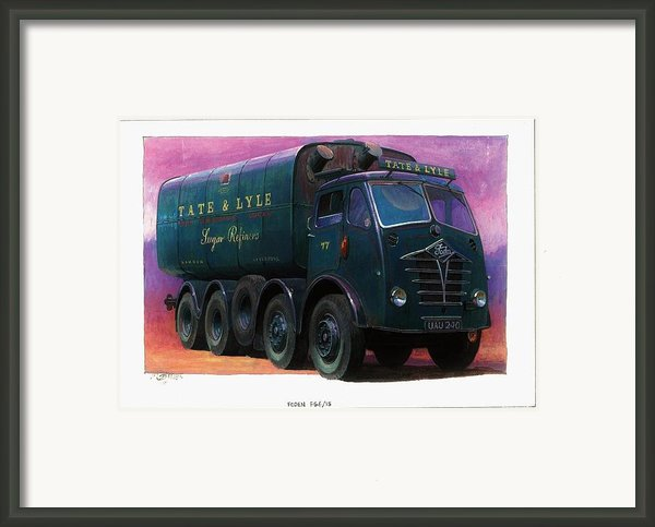 Tate And Lyle Foden. Framed Print By Mike  Jeffries