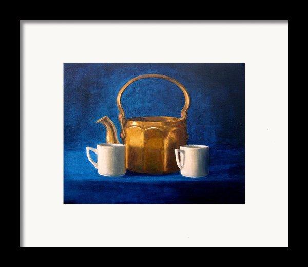 Tea Time Framed Print By Janet King