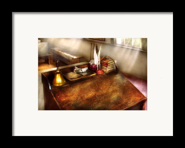 Teacher - The School Room Framed Print By Mike Savad