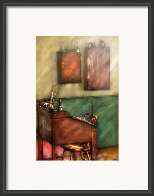 Teacher - The Teachers Desk Framed Print By Mike Savad