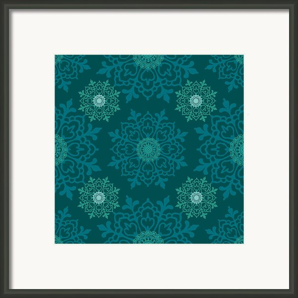 Teal Ii Framed Print By Lisa Noneman