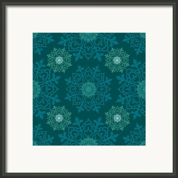 Teal Ii Framed Print By Lisa Noneman